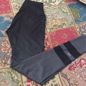 Alo Yoga Gradient Ombré Black & Gray Leggings